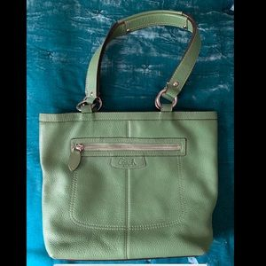 Small Green Coach Tote